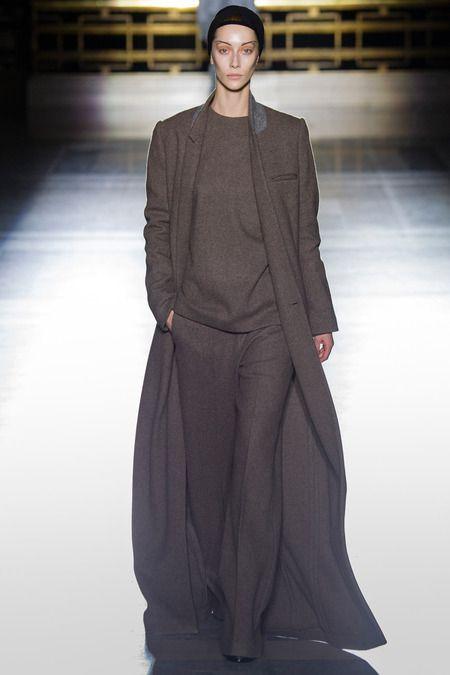 Haider Ackermann F/W 2014, oversize coat, wide-leg trousers
