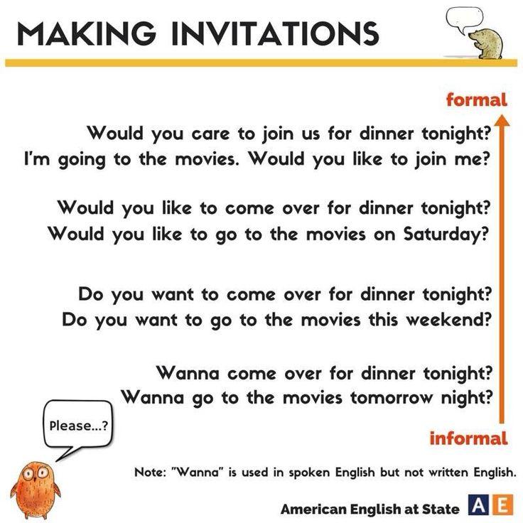 Making INVITATIONS in English #learnenglish