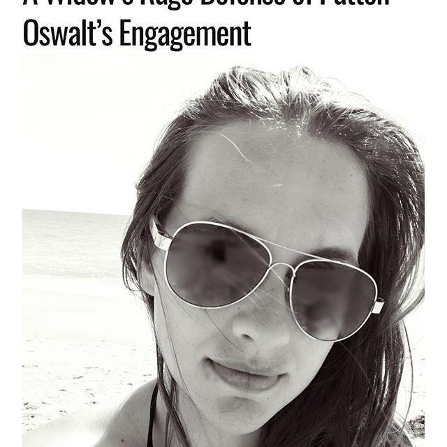 A widow's rage on Patton Oswalt's engagement