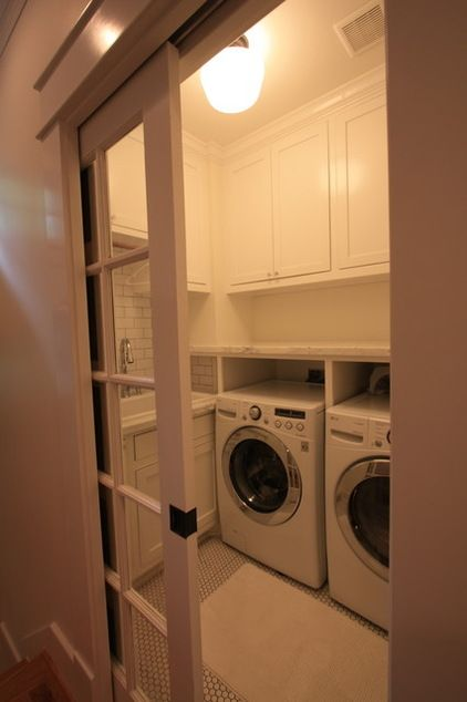 Traditional Laundry Room 1920 Craftsman Rehab in Houston Heights Historic District