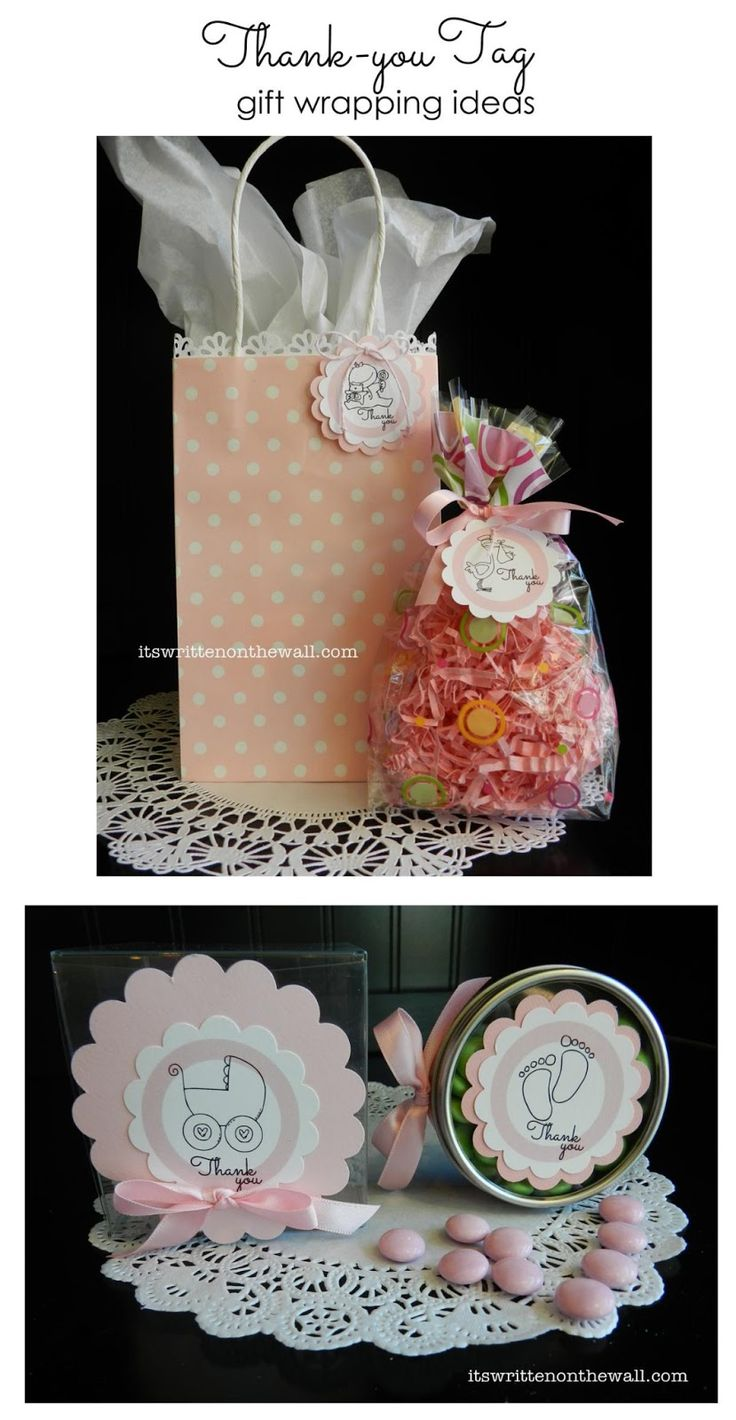 Gift wrapping ideas using our baby shower printables. Cute ideas and more photos