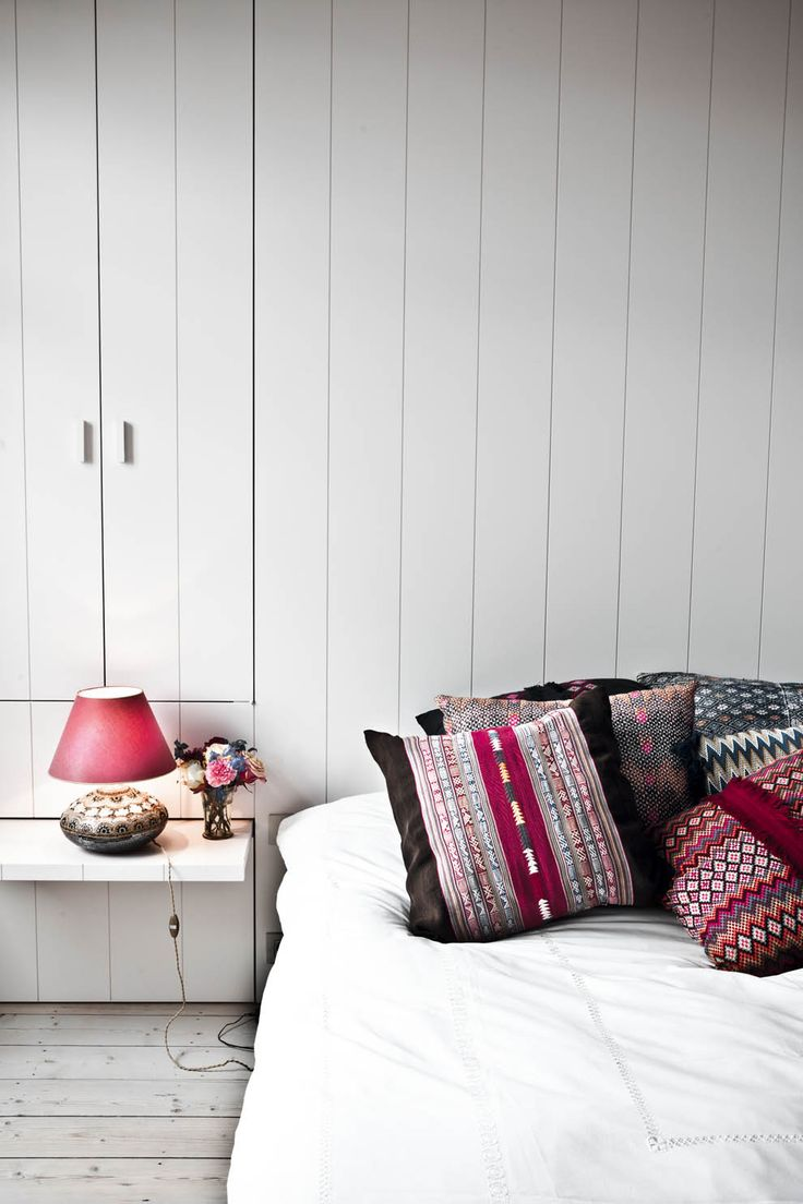 patterned pillows in the home of melanie ireland