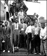 Stepping off the Empire Windrush in 1948  Having made a huge contribution to the British economy and way of life, from enforced slavery, to conscripted and voluntary involvement on both great wars, the black Brits once again came to aid  post war England in rebuilding.