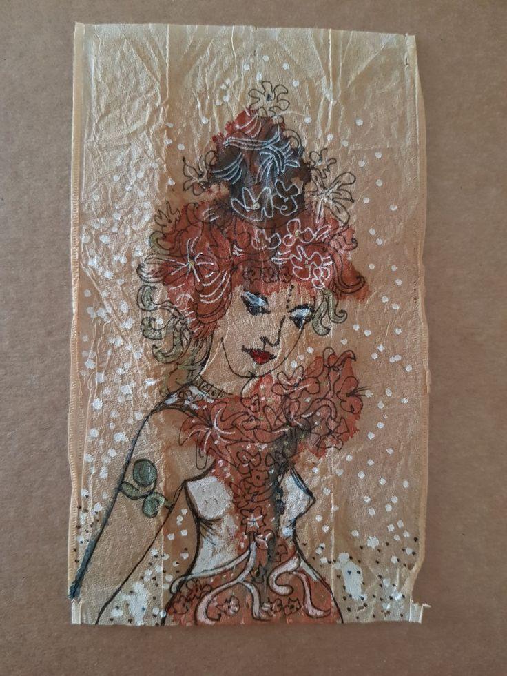 Tea bag art By lorena carreño