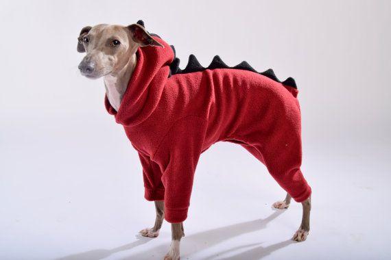 Dinosaur Onesie For Italian Greyhounds By Lokopetapparel