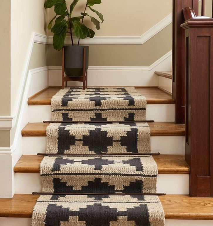 20 Chic Boho Stair Carpet Ideas To Inspire Your Home Decor Home Jute Wool Rug Carpet Stairs