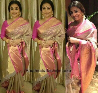 Another organza silk..!! Vidya balan is a stunner  Www.aavaranaa.com