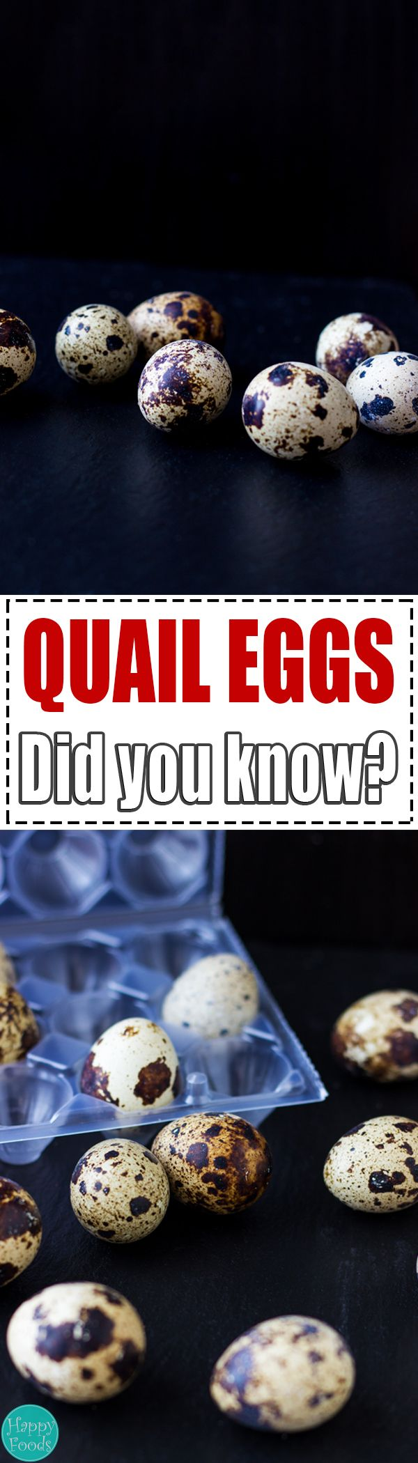 Health benefits and food facts of Quail Eggs - High in Vitamin A and B2. Help remove toxins from your blood. Strengthen your immune system. | happyfoodstube.com