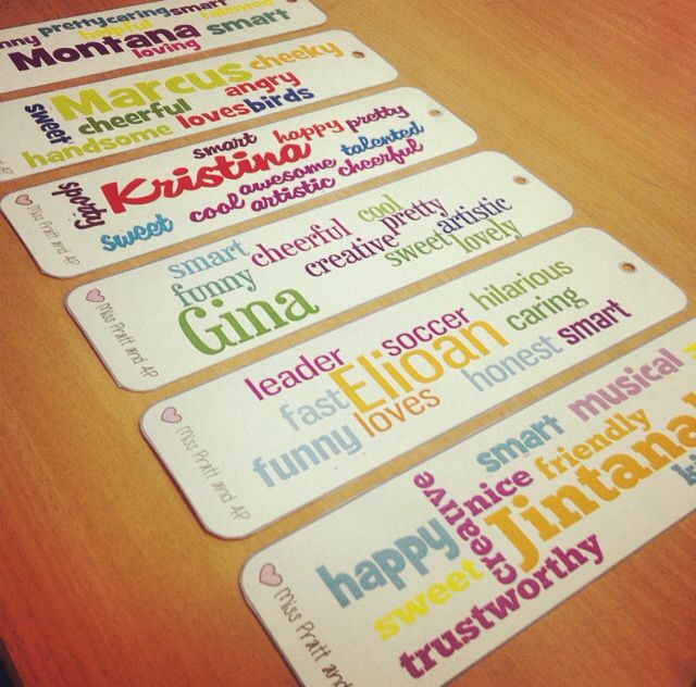Simple and cheap classroom gifts! Use wordle.com to create word collages and edit into a bookmark!