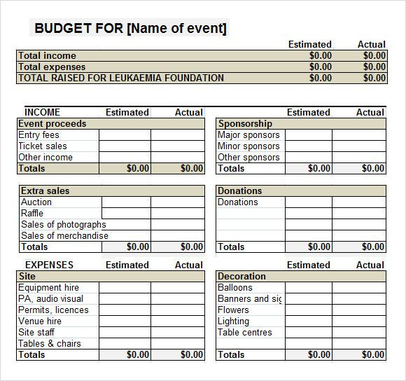 Pin On Budget Template