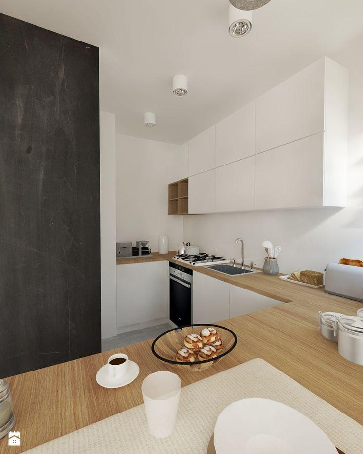 Kuchnia z tablicą kredową. - zdjęcie od Studio Monocco - Kuchnia - Styl Skandynawski - Studio Monocco