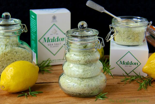 Makes everything it touches so..... good! Also such a fun gift for foodie friedns!  Lemon-Rosemary Sea Salt
