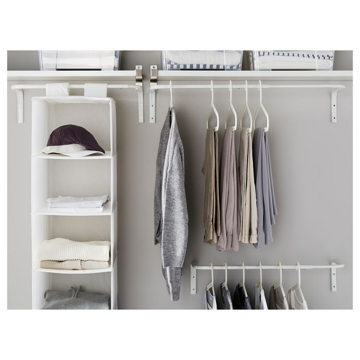 Ikea Mulig White Clothes Bar In 2019 Creative Space