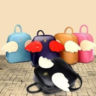 Buy 'BeiBaoBao – Faux Leather Wing-Accent Backpack' with Free International Shipping at YesStyle.com. Browse and shop for thousands of Asian fashion items from China and more!