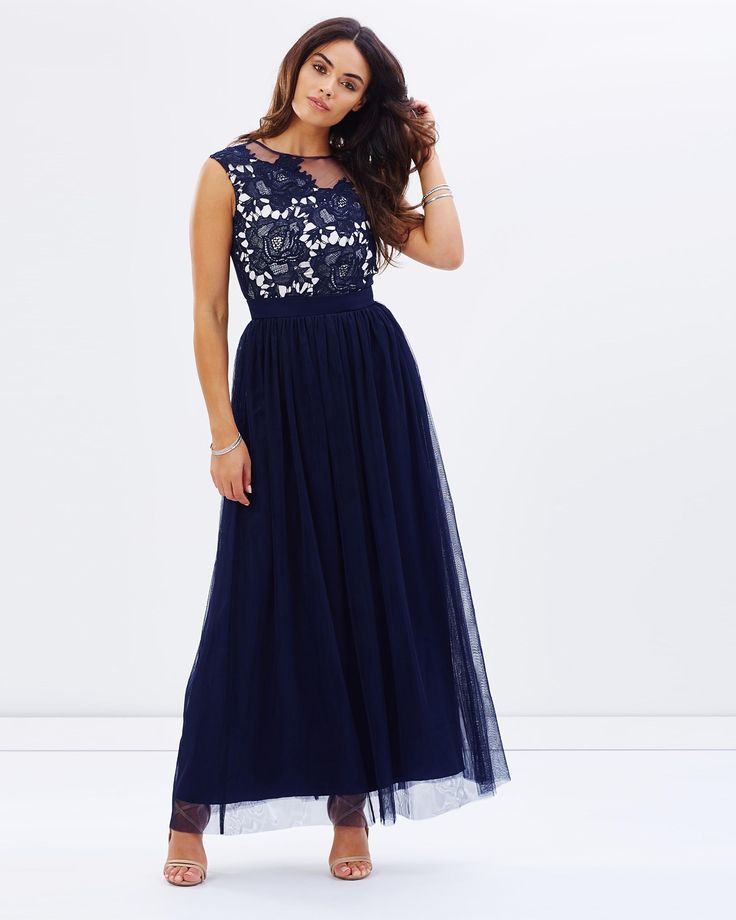 Embellished Detail Maxi Dress by Little Mistress Online   THE ICONIC   Australia