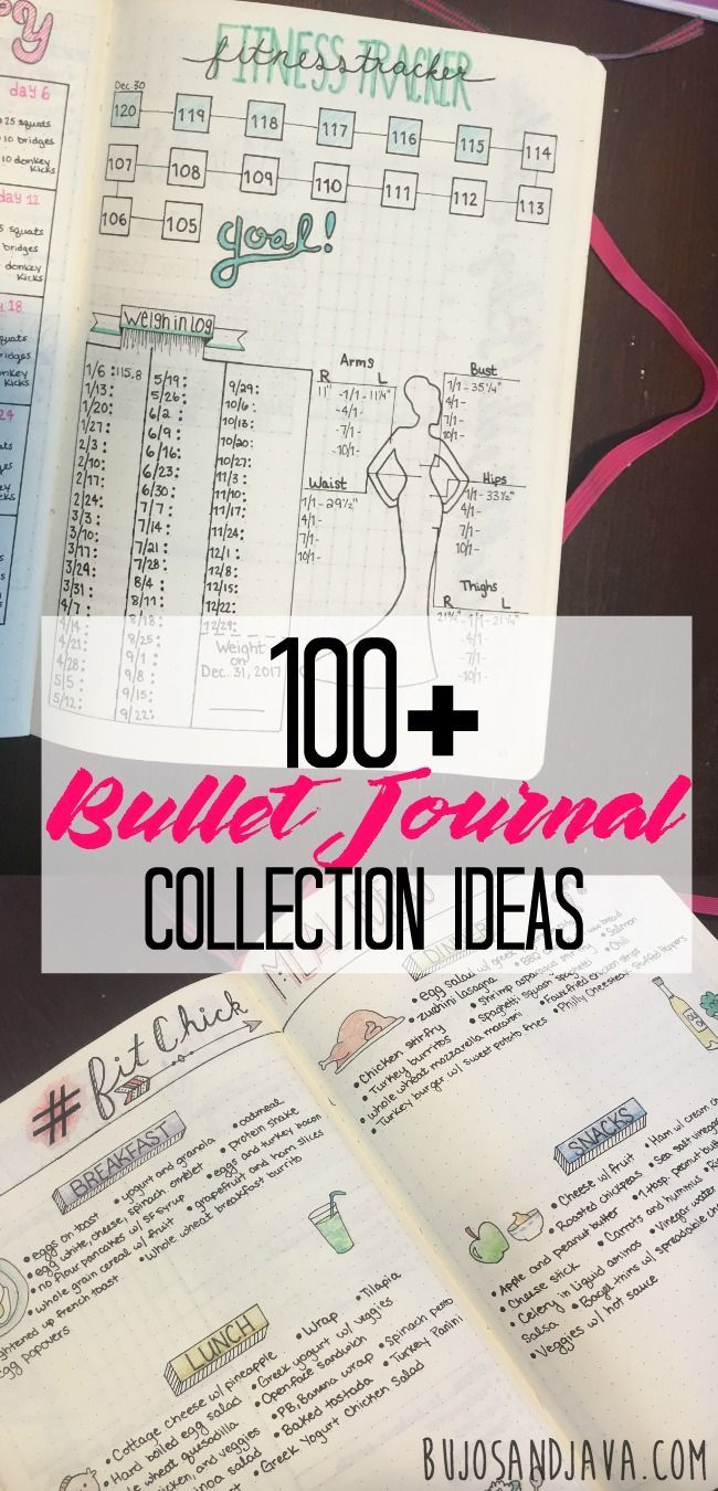 Find 100+ Bullet Journal Collection Ideas here. Fill your bujo with collections and trackers for every important part of your life.