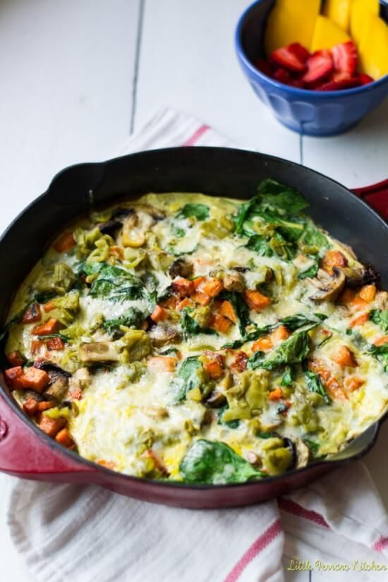 Loaded Veggie Frittata with Sweet Potato and Hath Chiles - plus 49 more fabulous Hatch Chile Recipes!