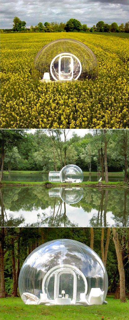 C amping just got so much snazzier with those bubble tents , don't you think? Dumas is a French designer who created this gem-of-a-tent, so ...