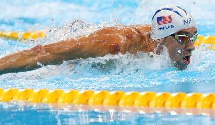 VIDEO:     Phelps loses but qualifies in  100 butterfly -  Phelps qualifies for semifinals in 100 fly.  -  August 11, 2016