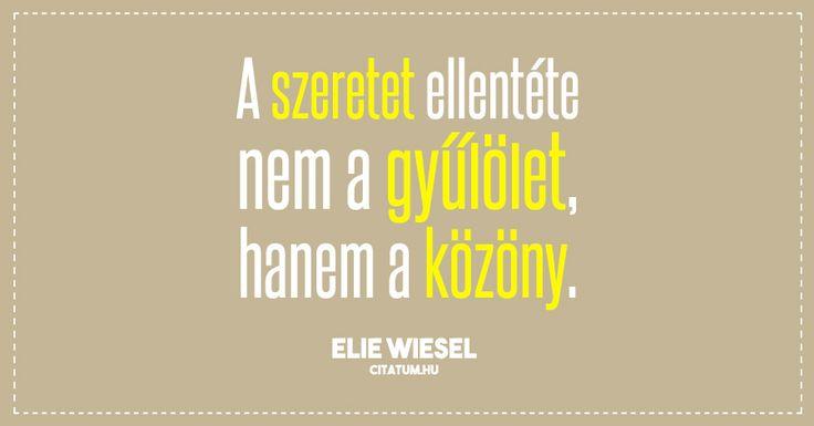Elie Wiesel #idézet