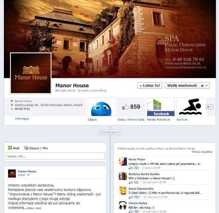 Manor House na Facebook'u: facebook.com/ManorHouse.PalacOdrowazow