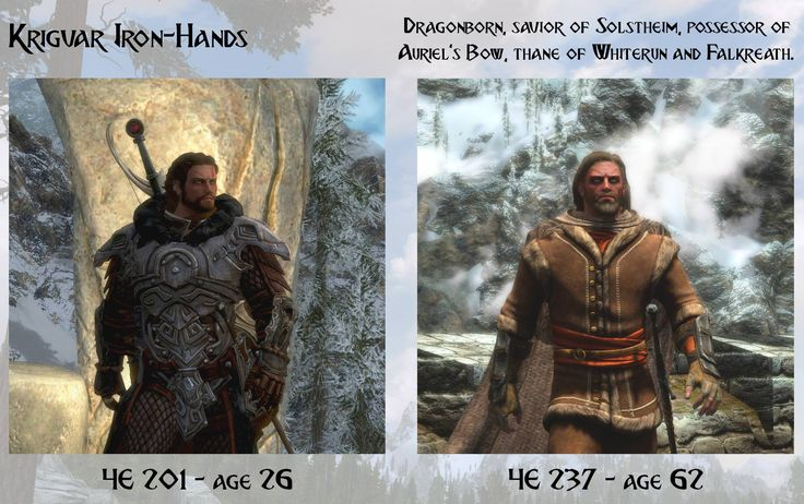 Decided to update my young/old comparisons with a few more characters #games #Skyrim #elderscrolls #BE3 #gaming #videogames #Concours #NGC