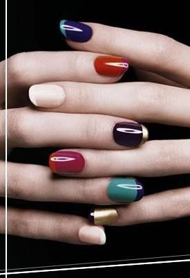 A twist on the french manicure nails nailart