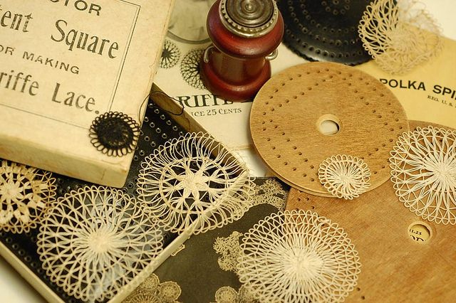 Antique teneriffe lace tools   Flickr - Photo Sharing!