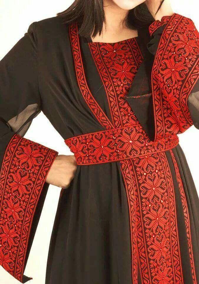 Palestinian embroidery thoub