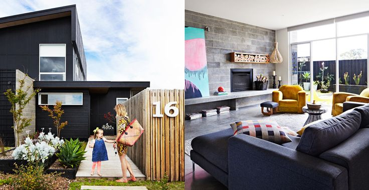 The gorgeous new home of leni and ginger o meara in for Besser block home designs