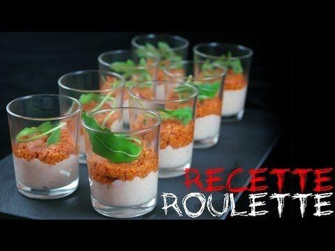 Recette : Verrines mousse de jambon et tomates confites