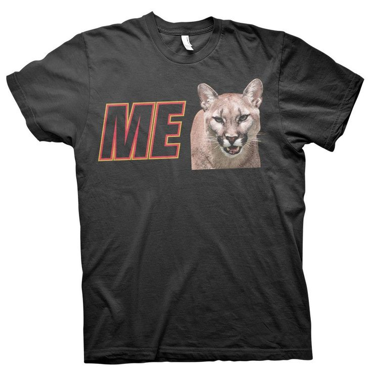 "ME Cougar Sponsor - ""I Wanna Go Fast"" Talladega Nights Ricky Bobby Funny T-shirt"
