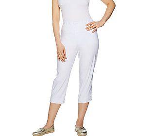 Susan Graver Sloan Stretch Pull-On Capri Pants
