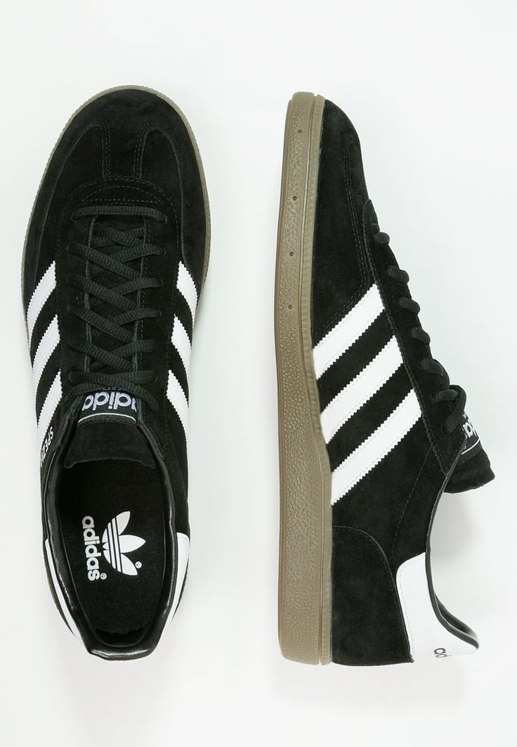 Adidas Spezials in core black suede with white ///-trim - just £