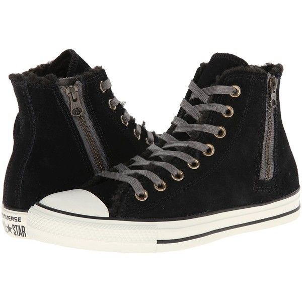 67623f37ff7b Converse Chuck Taylor All Star Side Zip Suede Hi Women s Lace up... (59  AUD) ❤ liked on Polyvore featuring shoes