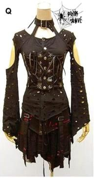 dark emo dresses | ... Store: Gothic Clothing, Cyber Goth Clothes, Emo Punk Rivet Mens Womens