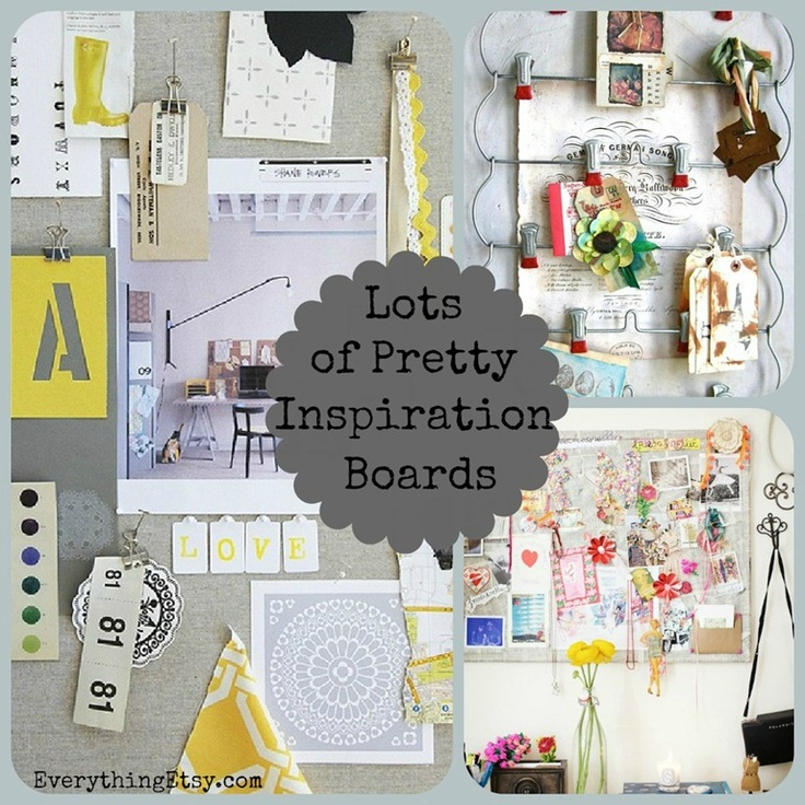 Lots of Pretty Inspiration Boards on EverythingEtsy.com