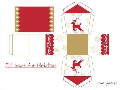 Είμαι παιδί: Εκτυπώστε χριστουγεννιάτικα κρεμαστά σπιτάκια
