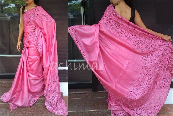 Tussar Silk With Cut Work-Code:0607151 Price Rs.10200/-