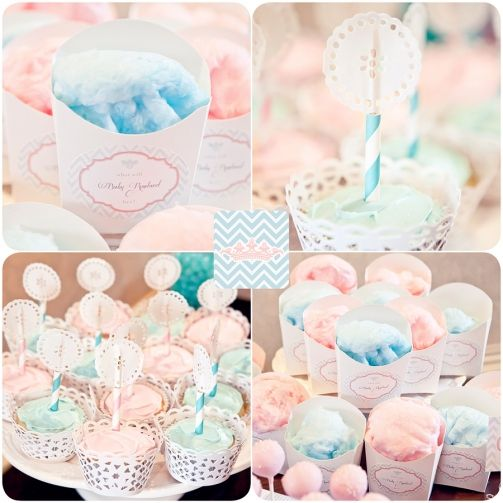 Cotton candy gender reveal