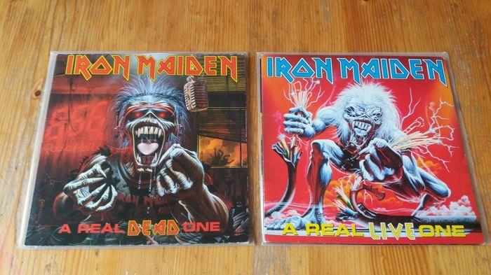 Iron maiden een echte dode & een echte live  EMI-070 789248 1 een echte doodFormaat:Vinyl LP Album GatefoldLand:BraziliëUitgebracht:1993Genre:RockStijl:Heavy MetalEMI-070 781456 1 a real woont eenFormaat:Vinyl LP Album GatefoldLand:BraziliëUitgebracht:1993Genre:RockStijl:Heavy Metal  EUR 63.00  Meer informatie