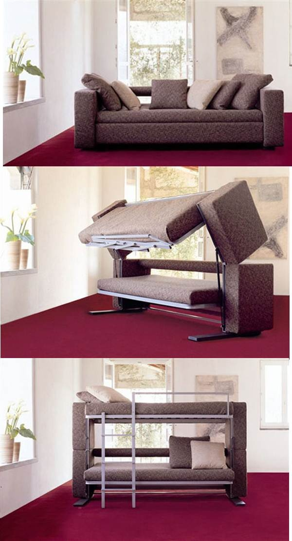 Sofa turns into bunkbed! Home, Furniture, Couch bunk beds