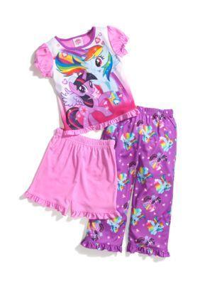 My Little Pony   3-Piece My Little Pony Pajama Set Toddler Girls