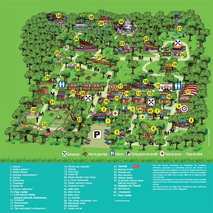 Plan Magicland parc d'attractions bouches du rhone 13 loisirs amuser enfant enfants marseille