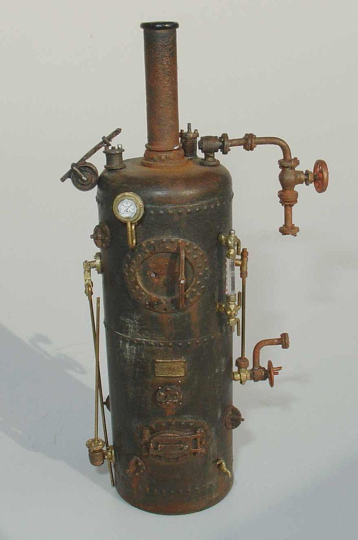 DM200 Donkey/verticle steam boiler, 10 ft. with all fittings $35.50, DM201, 7 ft bolier $29.50