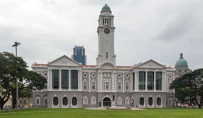 The Victoria Theatre and Concert Hall is a performing arts center in the Central Area of Singapore. It is a complex of two buildings and a clock tower joined together by a common corridor; the oldest part of the building was first built in 1862... #Singapore, #culture, #theater, #architecture, #victorian, #landmark, #attraction, #travel