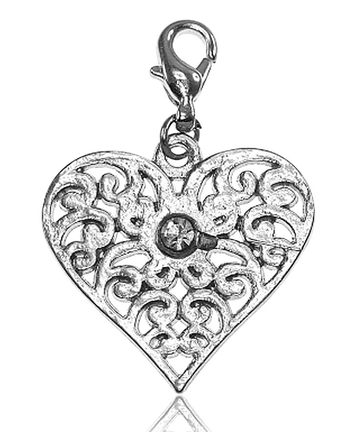 Breloque charm coeur strass - So Charm