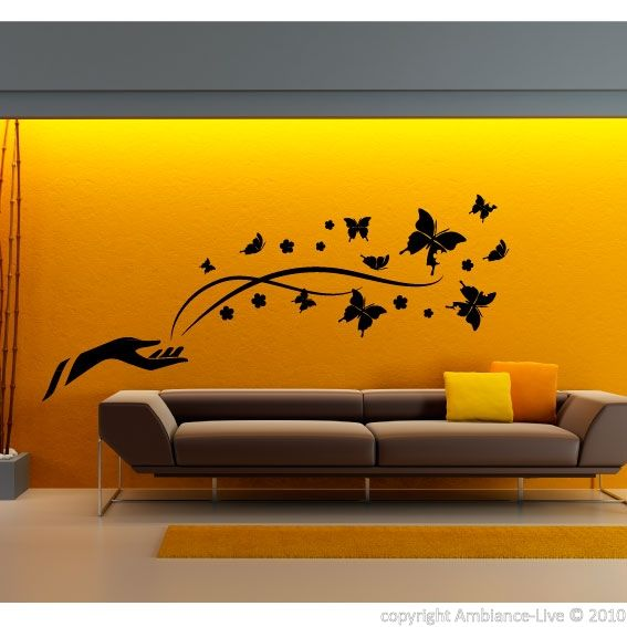 Formidable Ambiance Wall Stickers #15: Stickers Muraux Animaux - Sticker Papillons De La Liberté | Ambiance-sticker .com