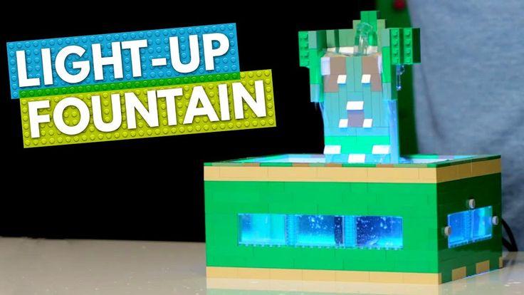 How to Build a LEGO Light-Up Desk Fountain   BRICK X BRICK