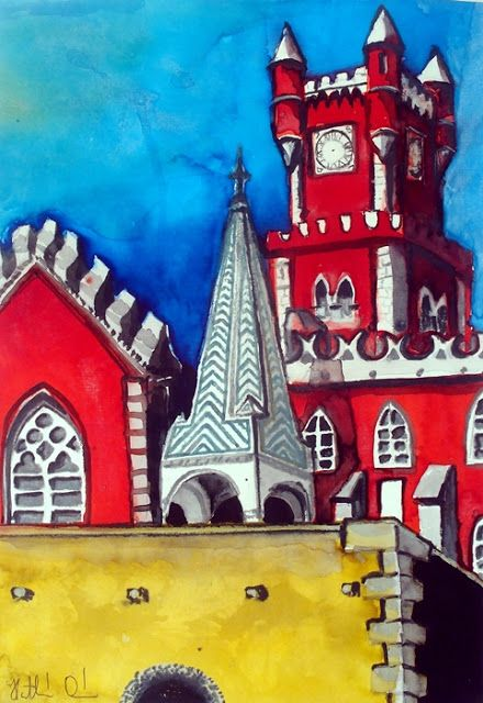 Karavella Atelier: Pena Palace in Portugal by Dora Hathazi Mendes
